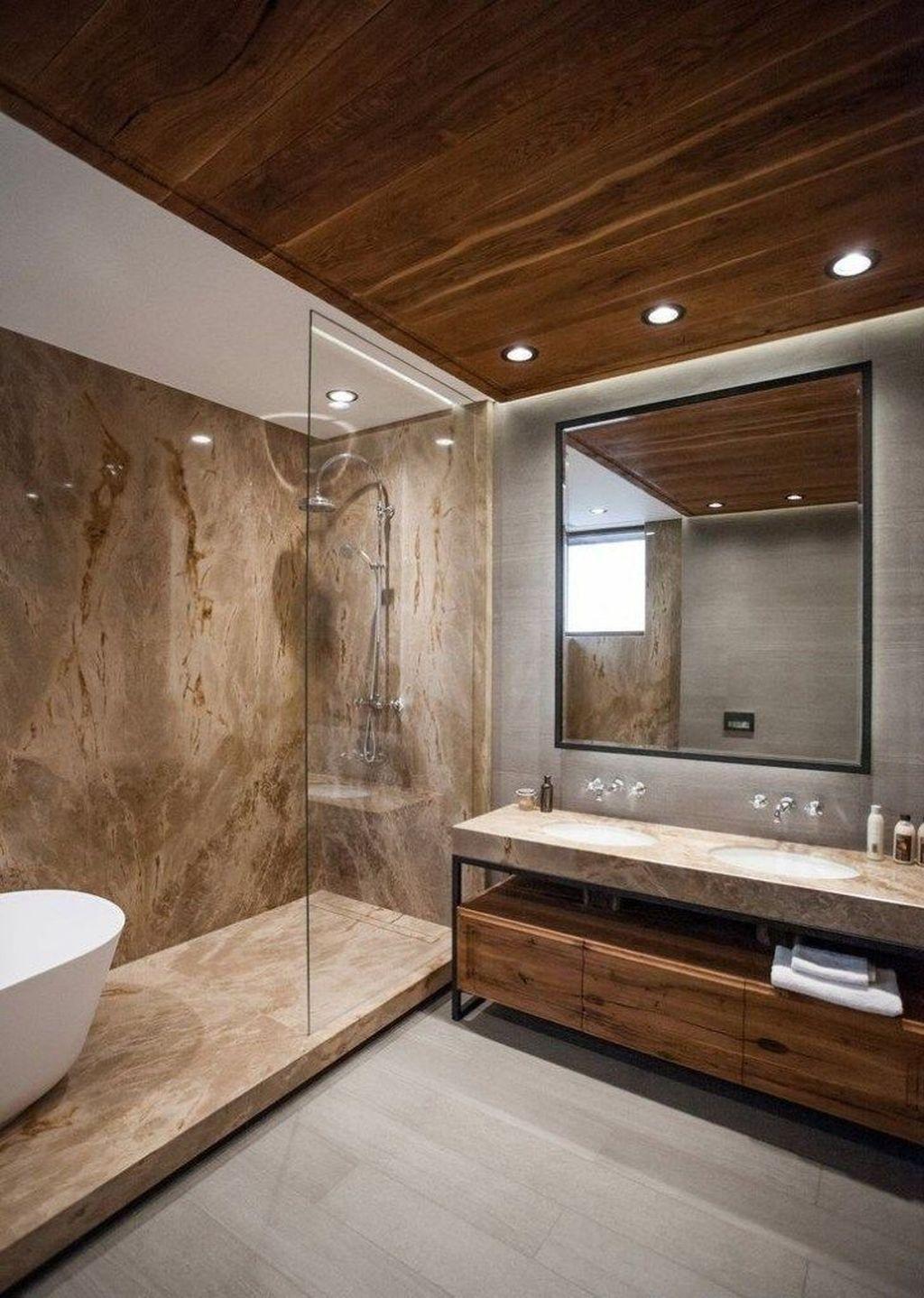Fabulous Modern Master Bathroom Design Ideas 15