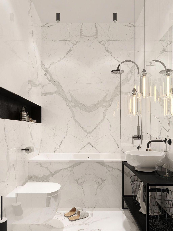 Fabulous Modern Master Bathroom Design Ideas 24