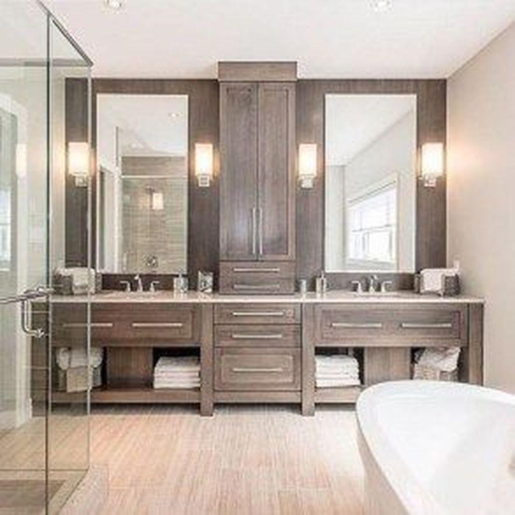 Fabulous Modern Master Bathroom Design Ideas 33