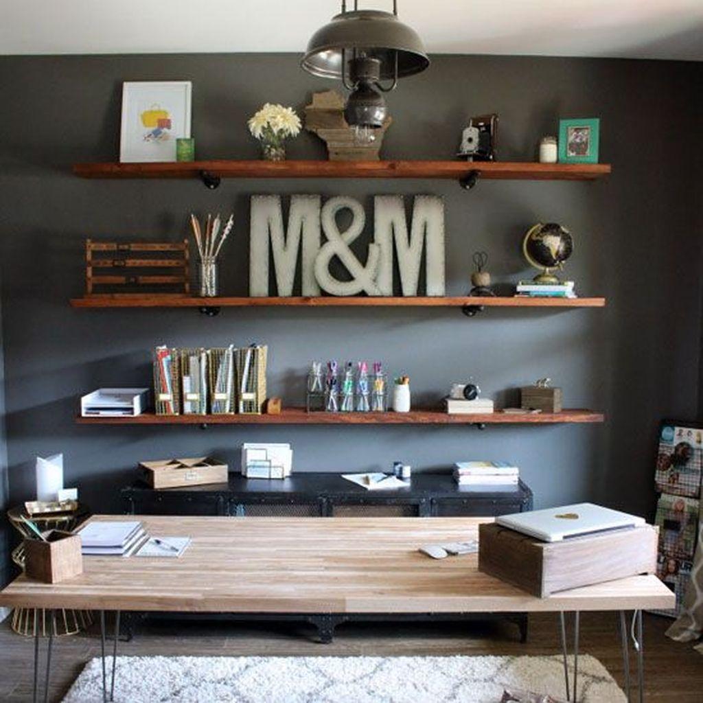 Gorgeous Rustic Office Decor Ideas 01