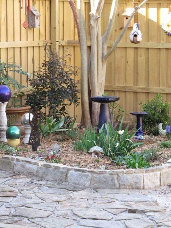 Inspiring Bird Bath Design Ideas For Front Yard 19