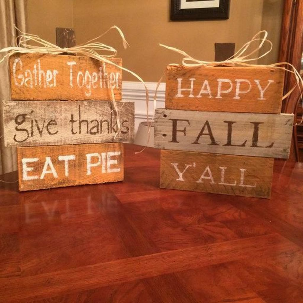 Inspiring Fall Pallet Signs Design Ideas For Your Home Decor 21