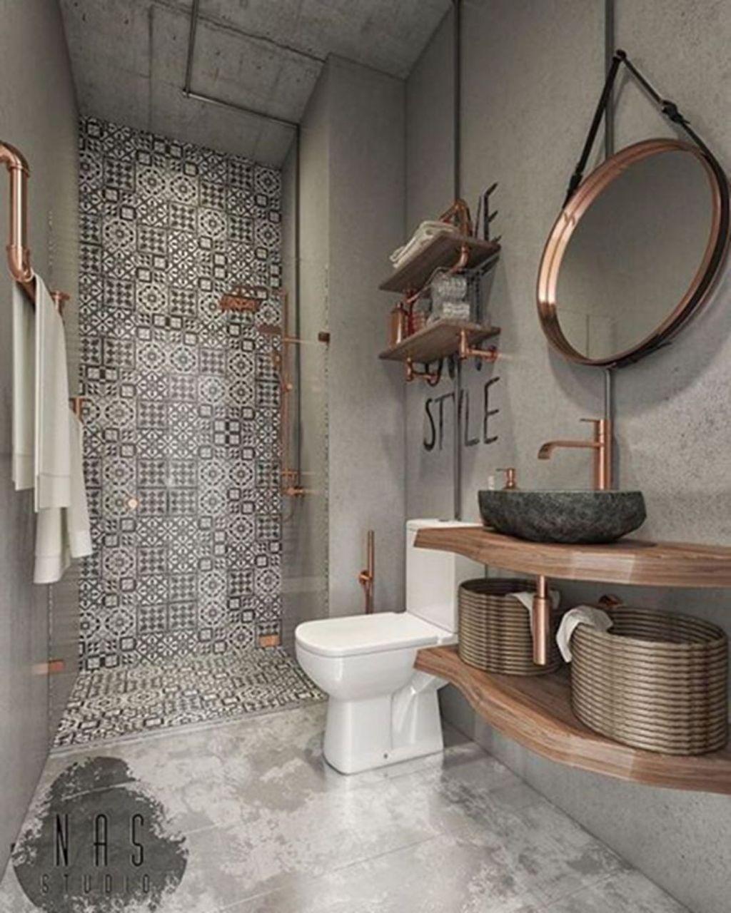Inspiring Small Modern Farmhouse Bathroom Design Ideas 32