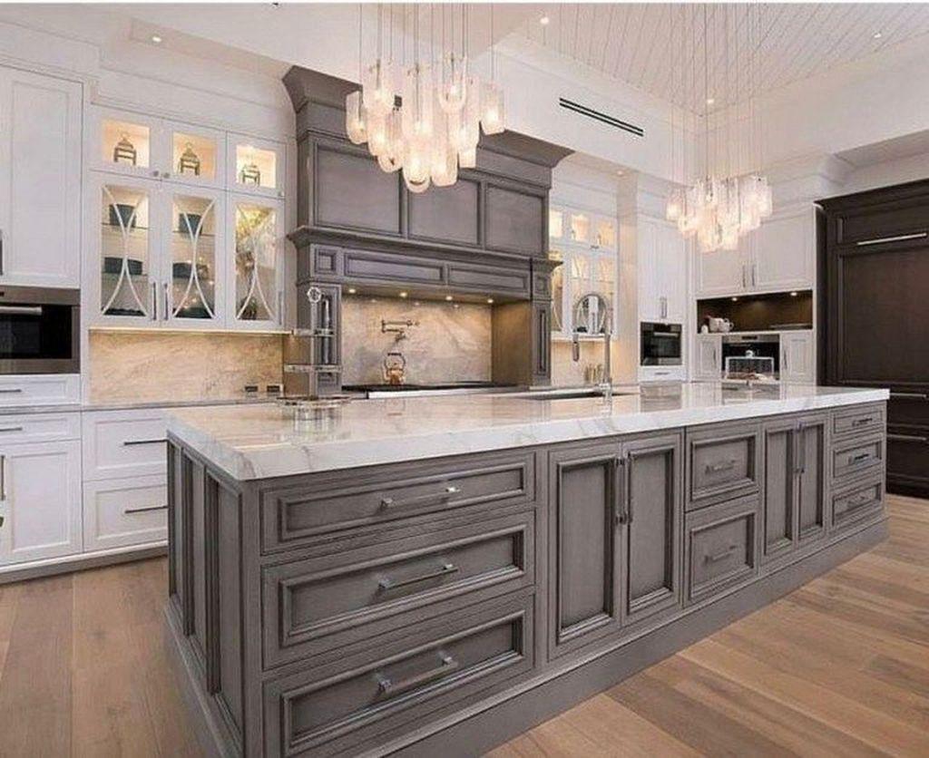 Lovely Grey White Kitchen Design Ideas 15