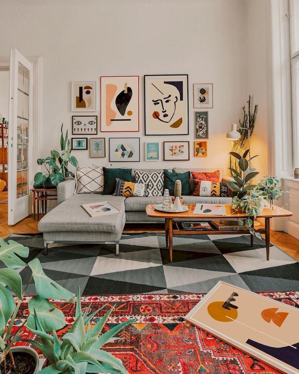 Nice Boho Farmhouse Design Ideas For Your Living Room Decoration 03