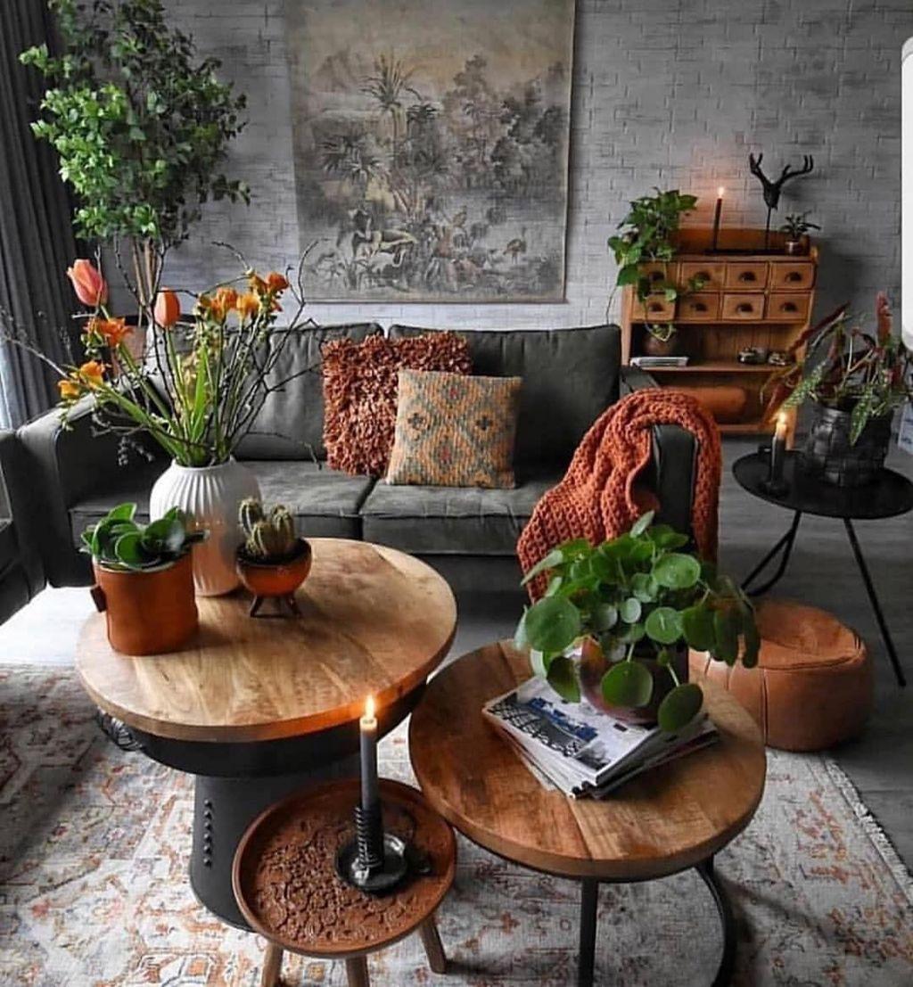 Nice Boho Farmhouse Design Ideas For Your Living Room Decoration 24