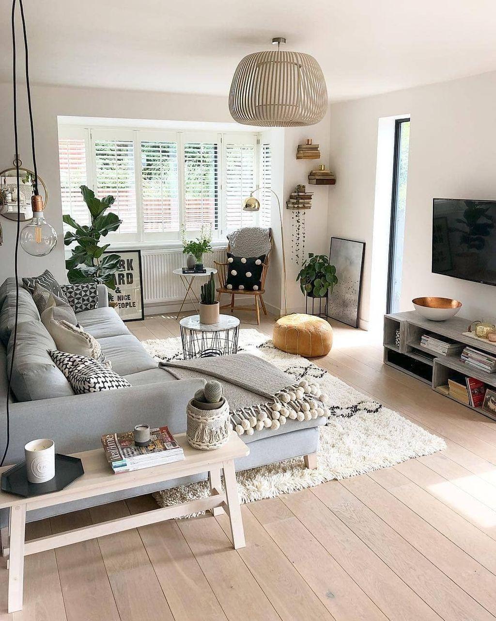 Nice Boho Farmhouse Design Ideas For Your Living Room Decoration 28