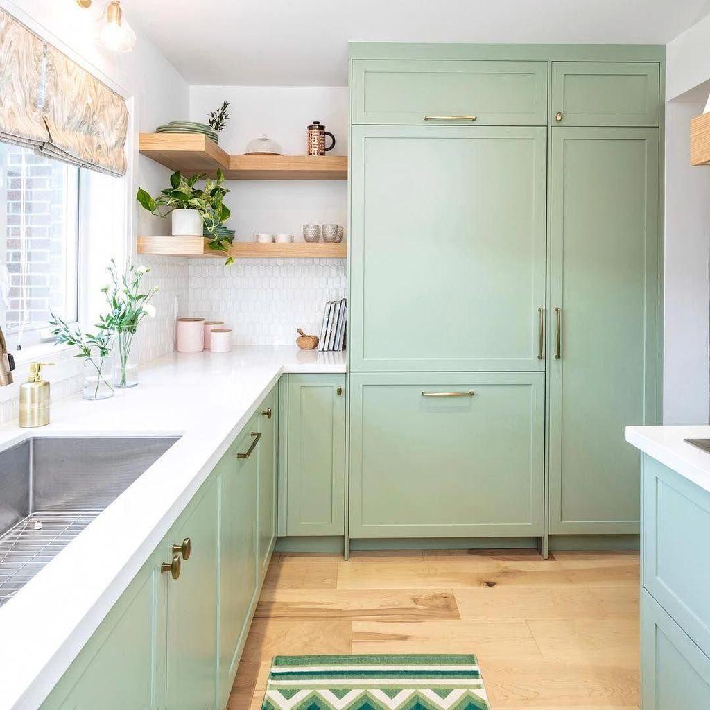 Nice Sage Kitchen Cabinets Design Ideas 03