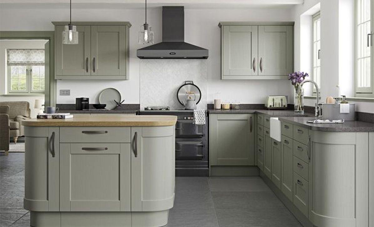 Nice Sage Kitchen Cabinets Design Ideas 13