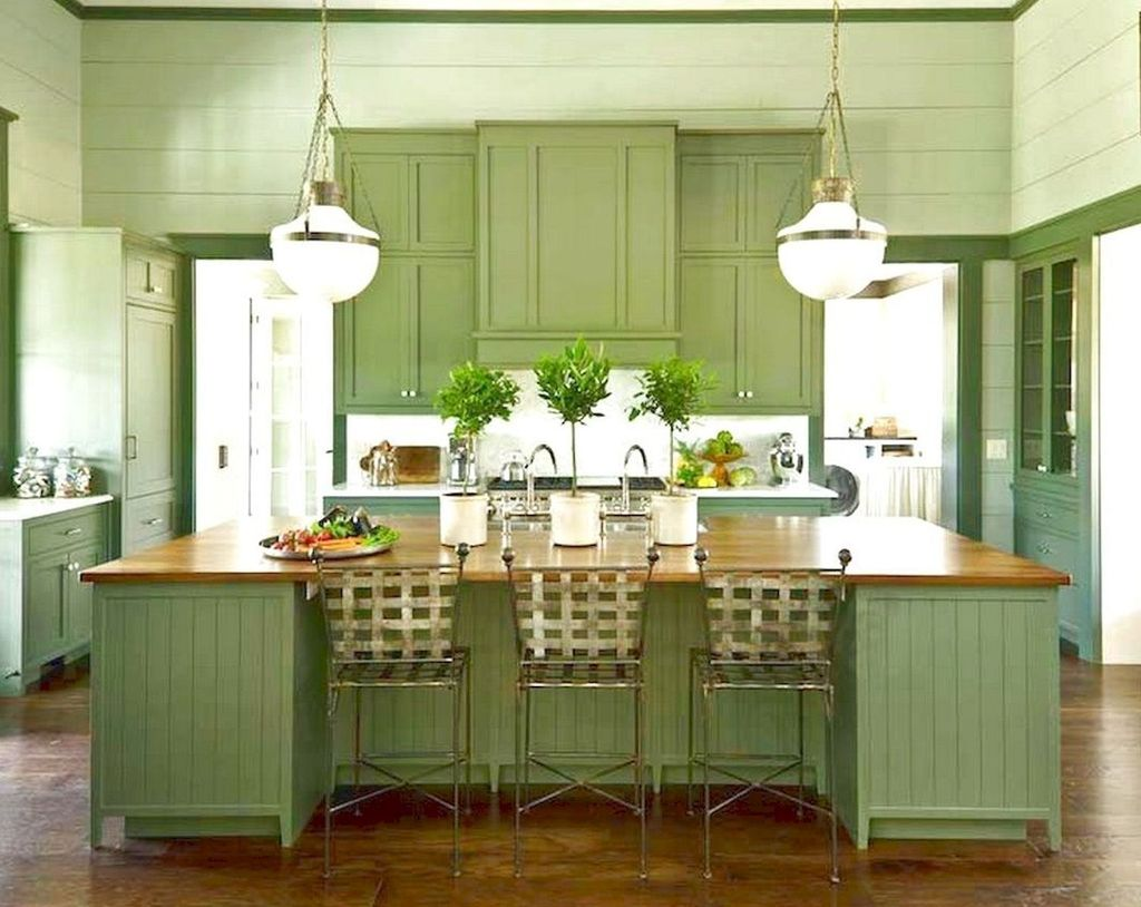 Nice Sage Kitchen Cabinets Design Ideas 22