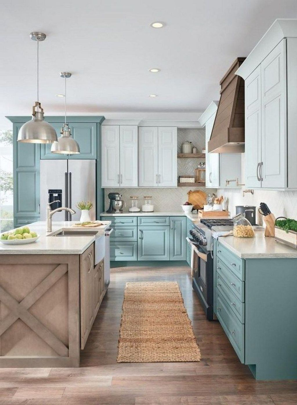 Nice Sage Kitchen Cabinets Design Ideas 23