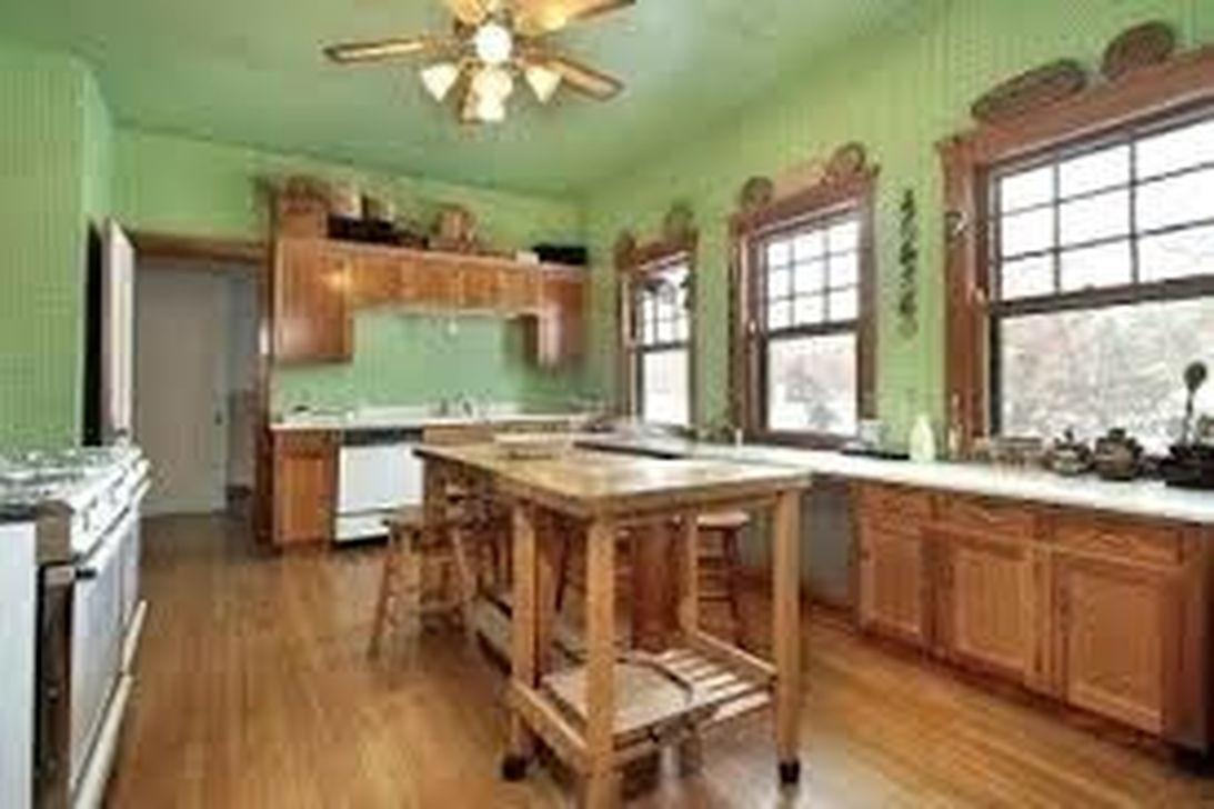 Nice Sage Kitchen Cabinets Design Ideas 24