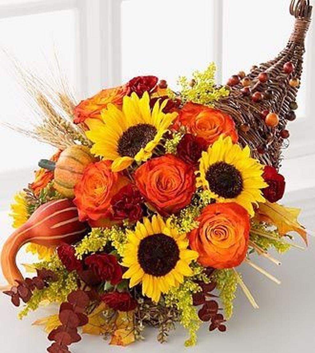 Nice Thanksgiving Flower Arrangements Design Ideas 02