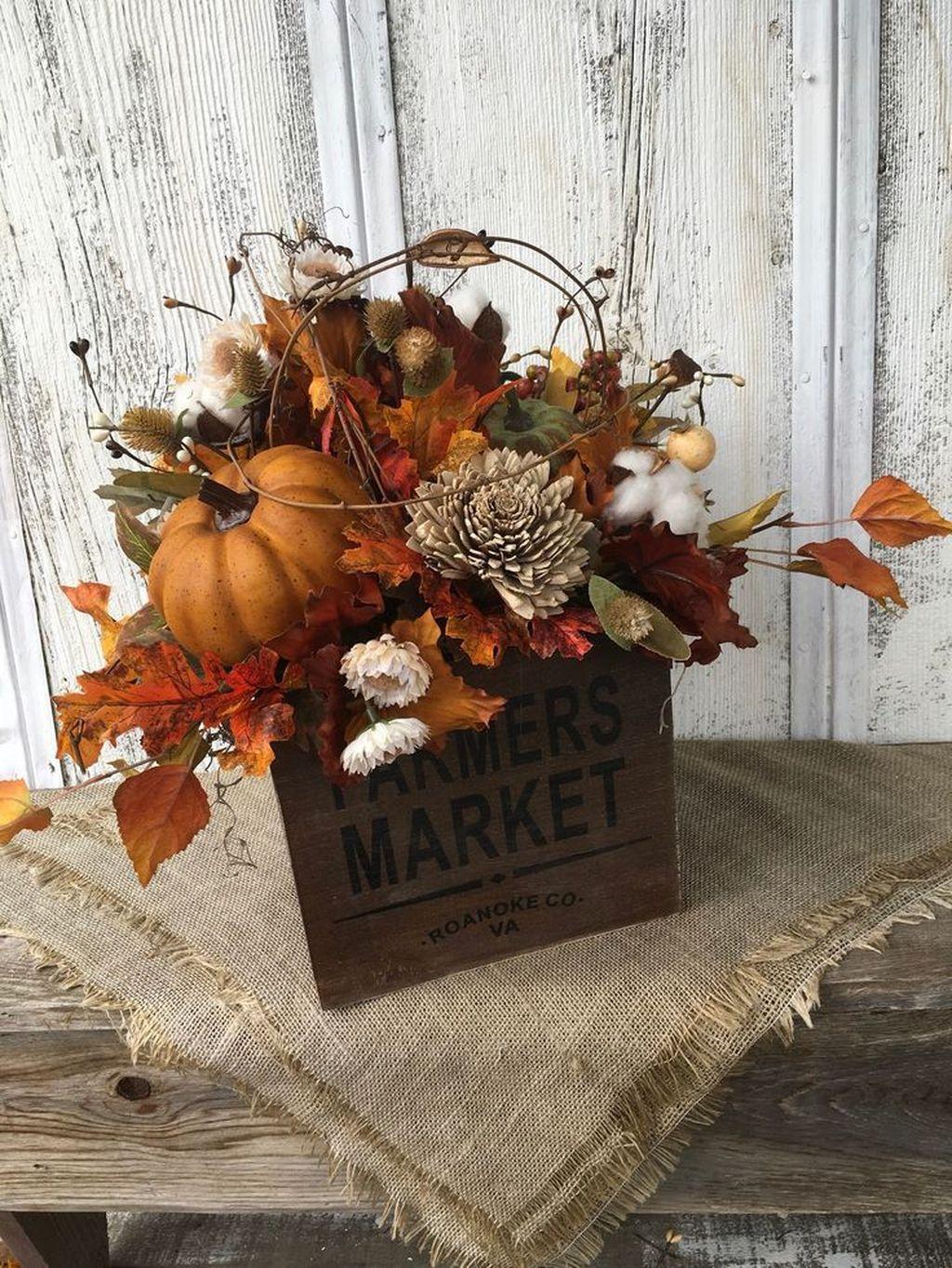 Nice Thanksgiving Flower Arrangements Design Ideas 03