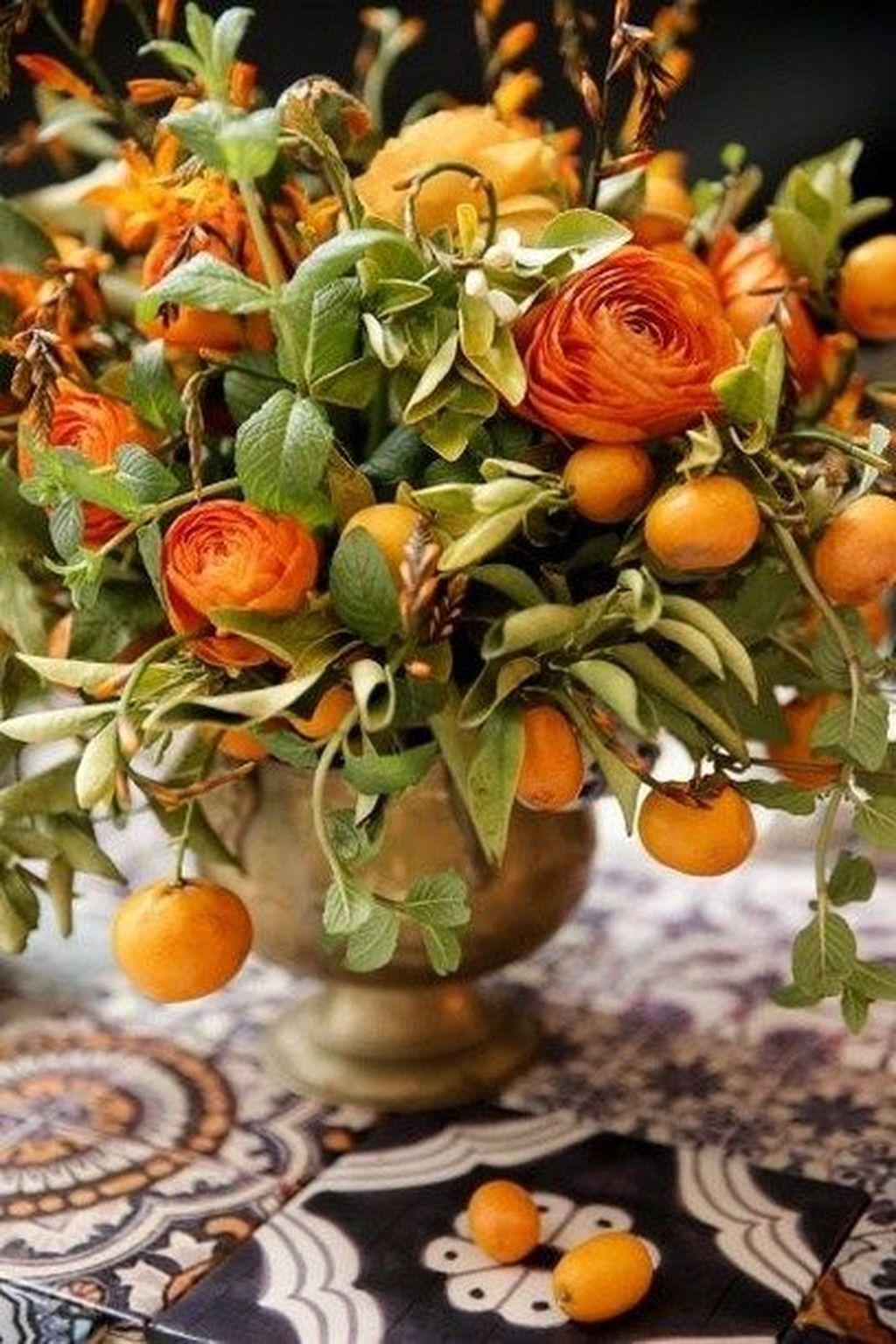 Nice Thanksgiving Flower Arrangements Design Ideas 11