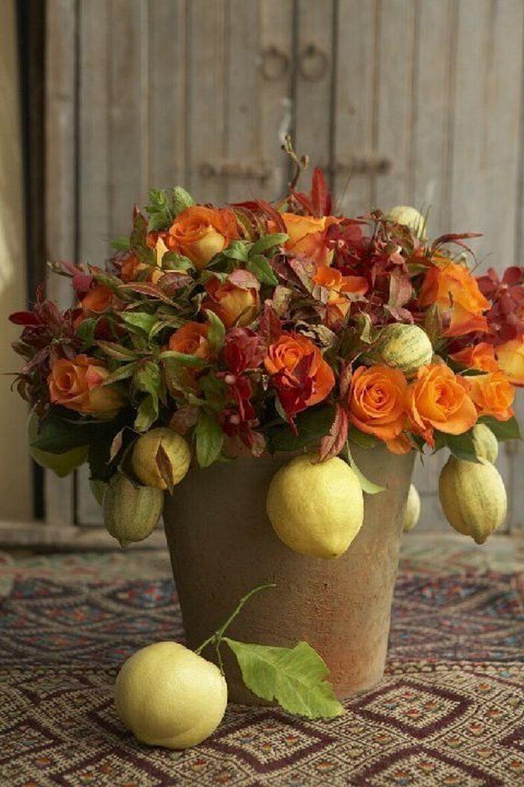Nice Thanksgiving Flower Arrangements Design Ideas 15