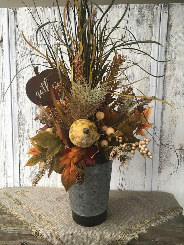 Nice Thanksgiving Flower Arrangements Design Ideas 17