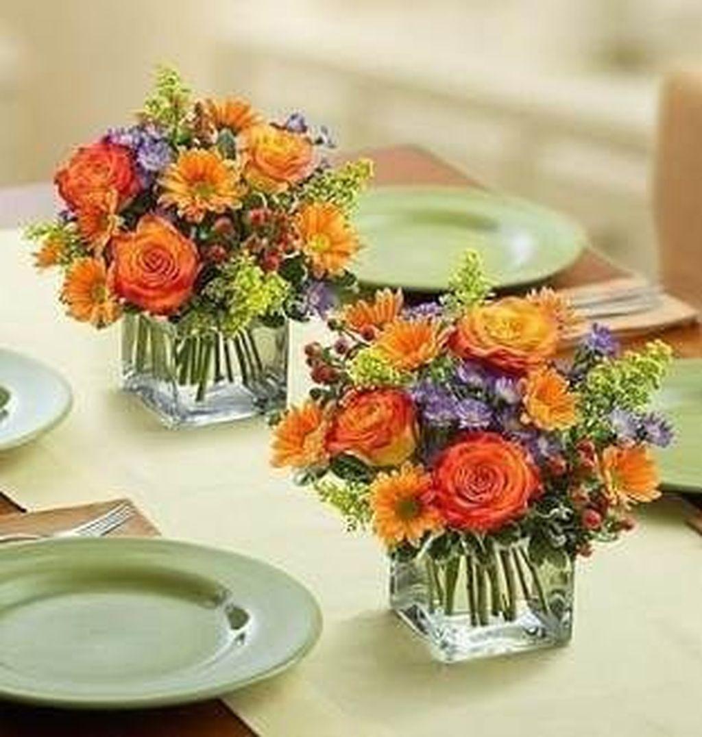 Nice Thanksgiving Flower Arrangements Design Ideas 26