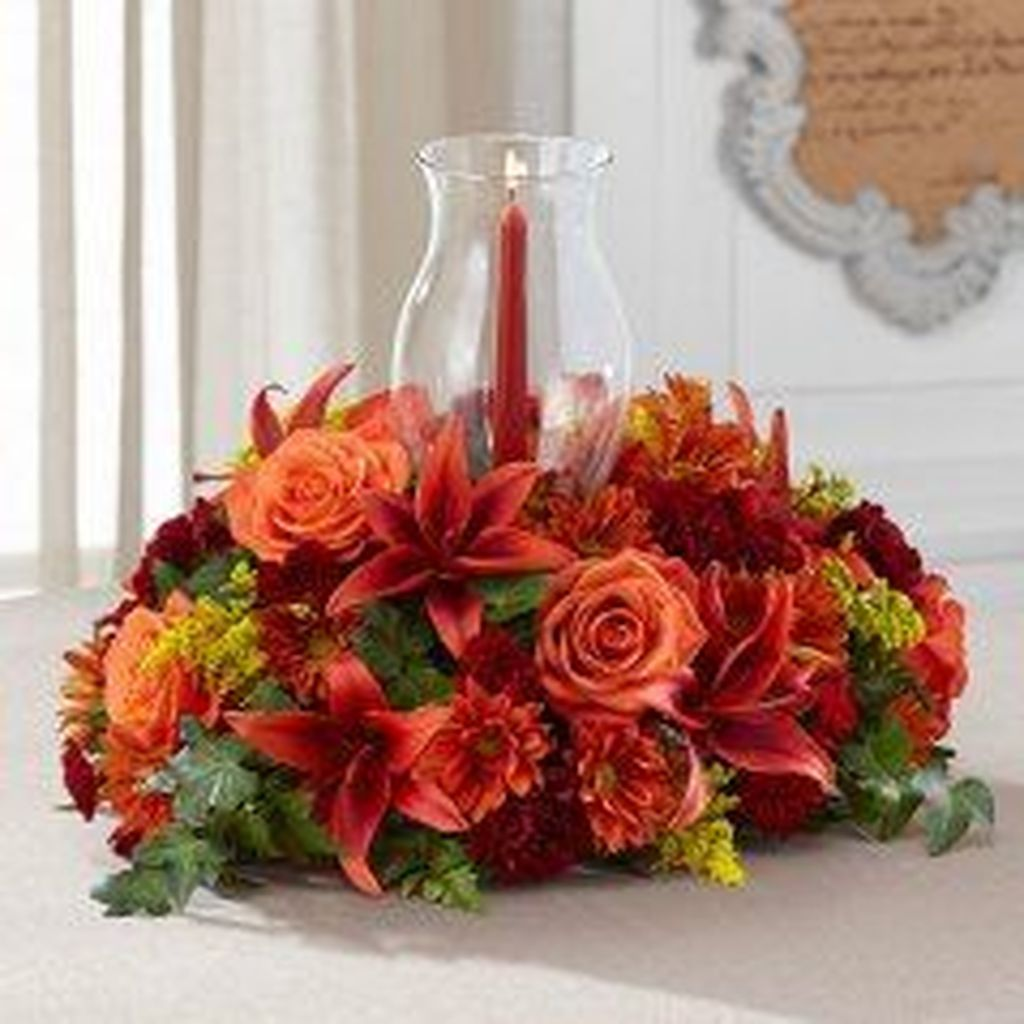 Nice Thanksgiving Flower Arrangements Design Ideas 34