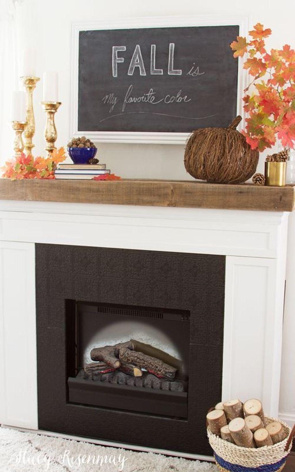 Popular Fall Fireplace Decoration Ideas 18