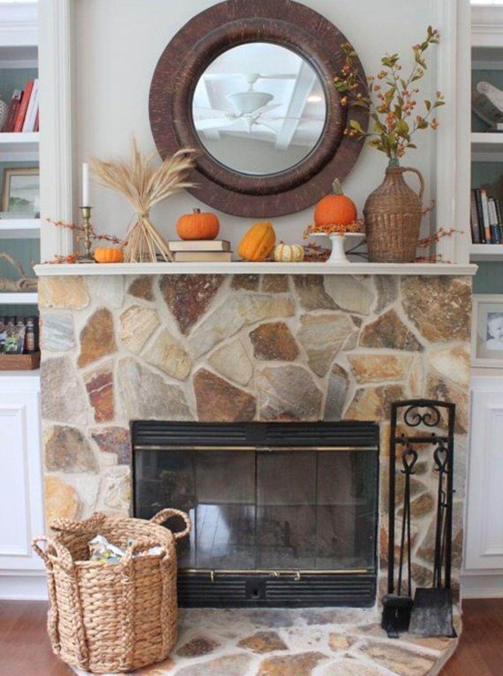 Popular Fall Fireplace Decoration Ideas 28