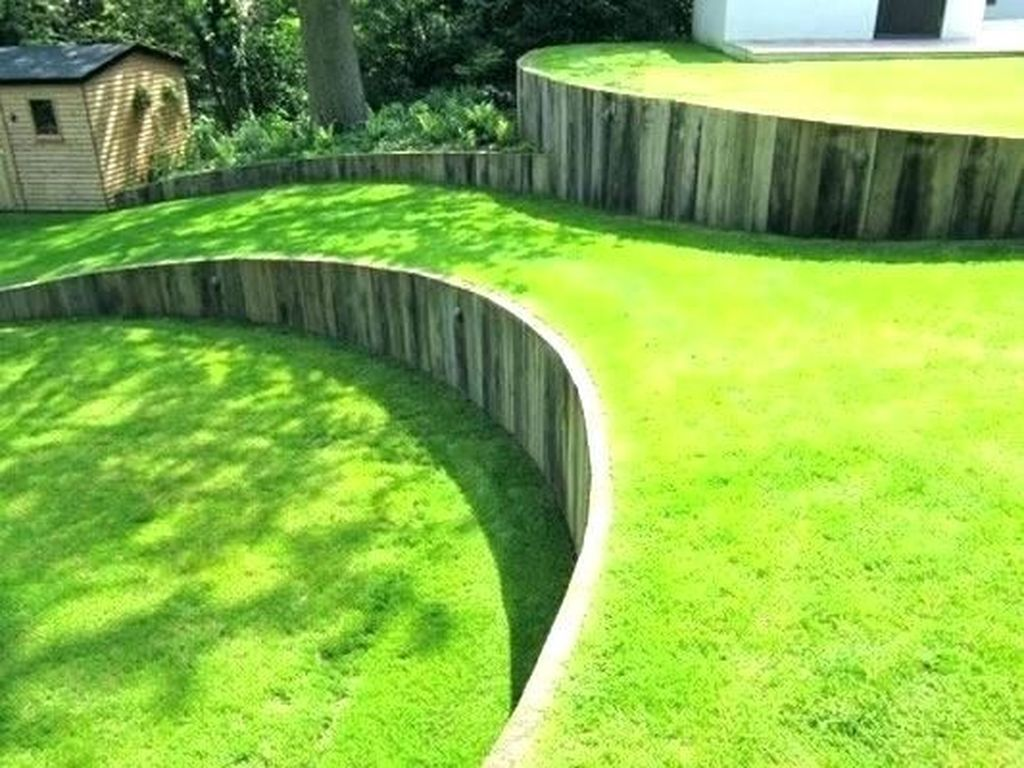 Popular Terraced Landscaping Slope Yard Design Ideas 01
