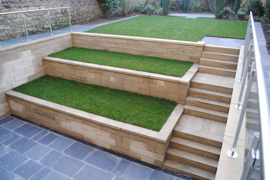 Popular Terraced Landscaping Slope Yard Design Ideas 04
