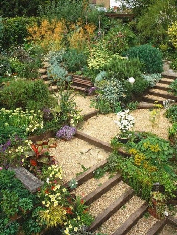 Popular Terraced Landscaping Slope Yard Design Ideas 25