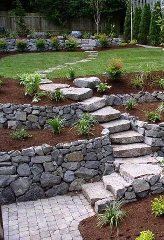 Popular Terraced Landscaping Slope Yard Design Ideas 29