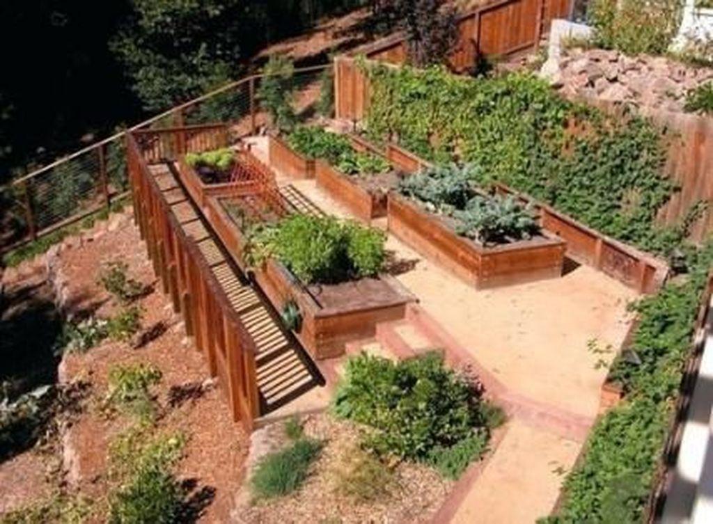 Popular Terraced Landscaping Slope Yard Design Ideas 31