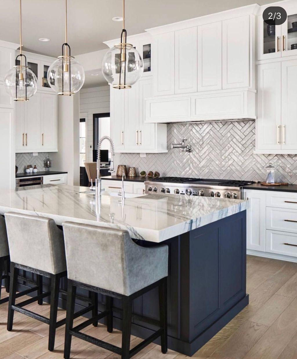 Stunning Glass Backsplash Kitchen Ideas 04