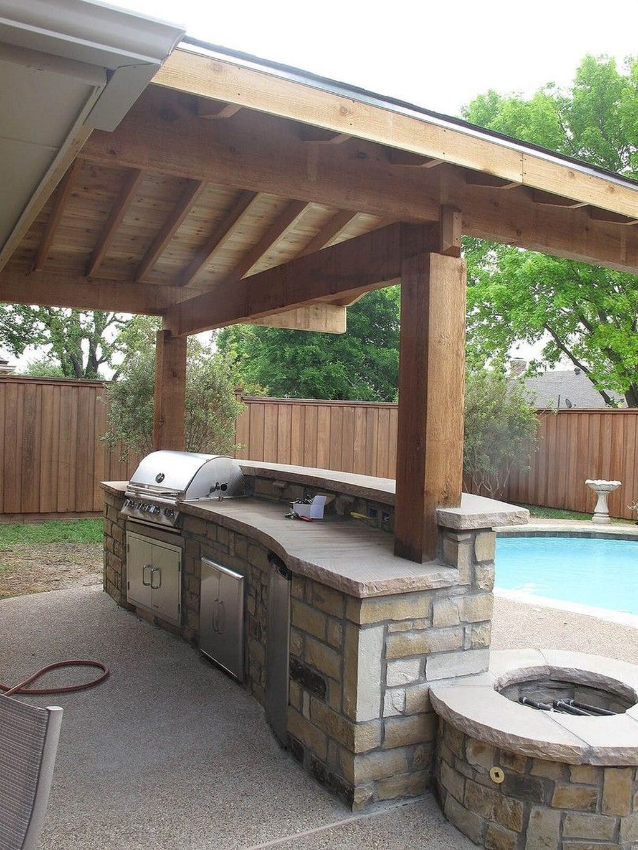 Stunning Outdoor Kitchen Design Ideas For Perfect Summer 23
