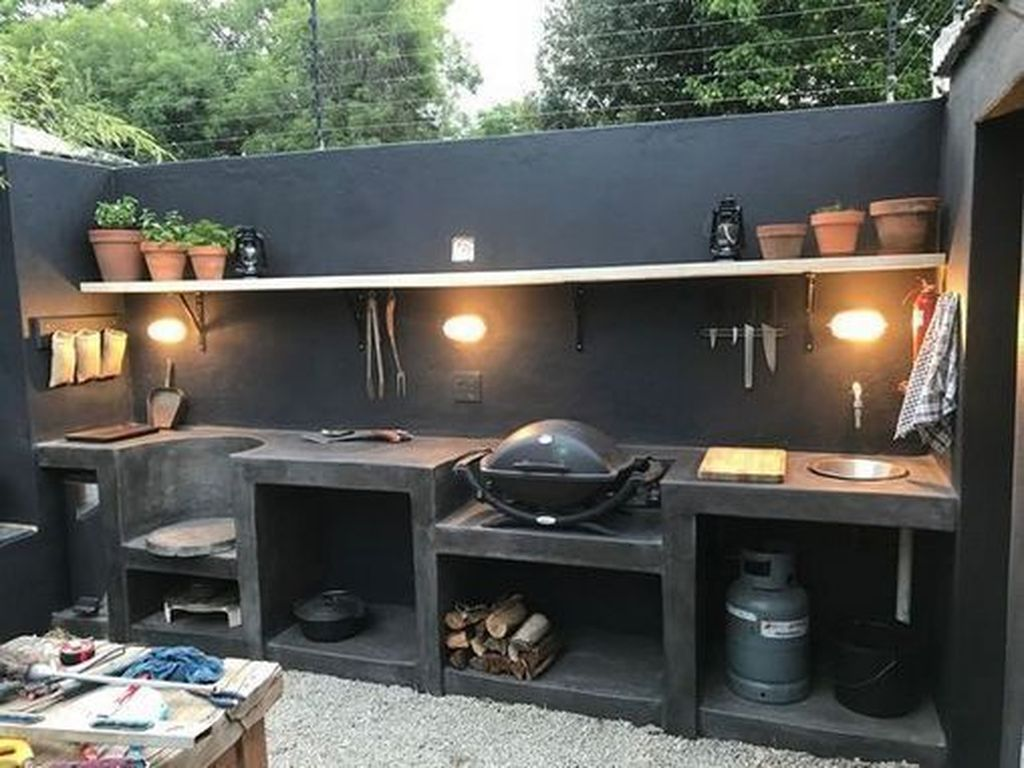 Stunning Outdoor Kitchen Design Ideas For Perfect Summer 26