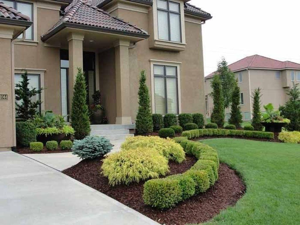 Wonderful Evergreen Landscape Ideas For Front Yard 01
