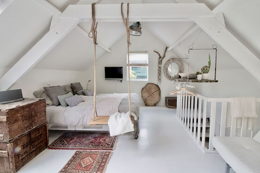 Amazing Attic Bedroom Design Ideas That You Will Like 34