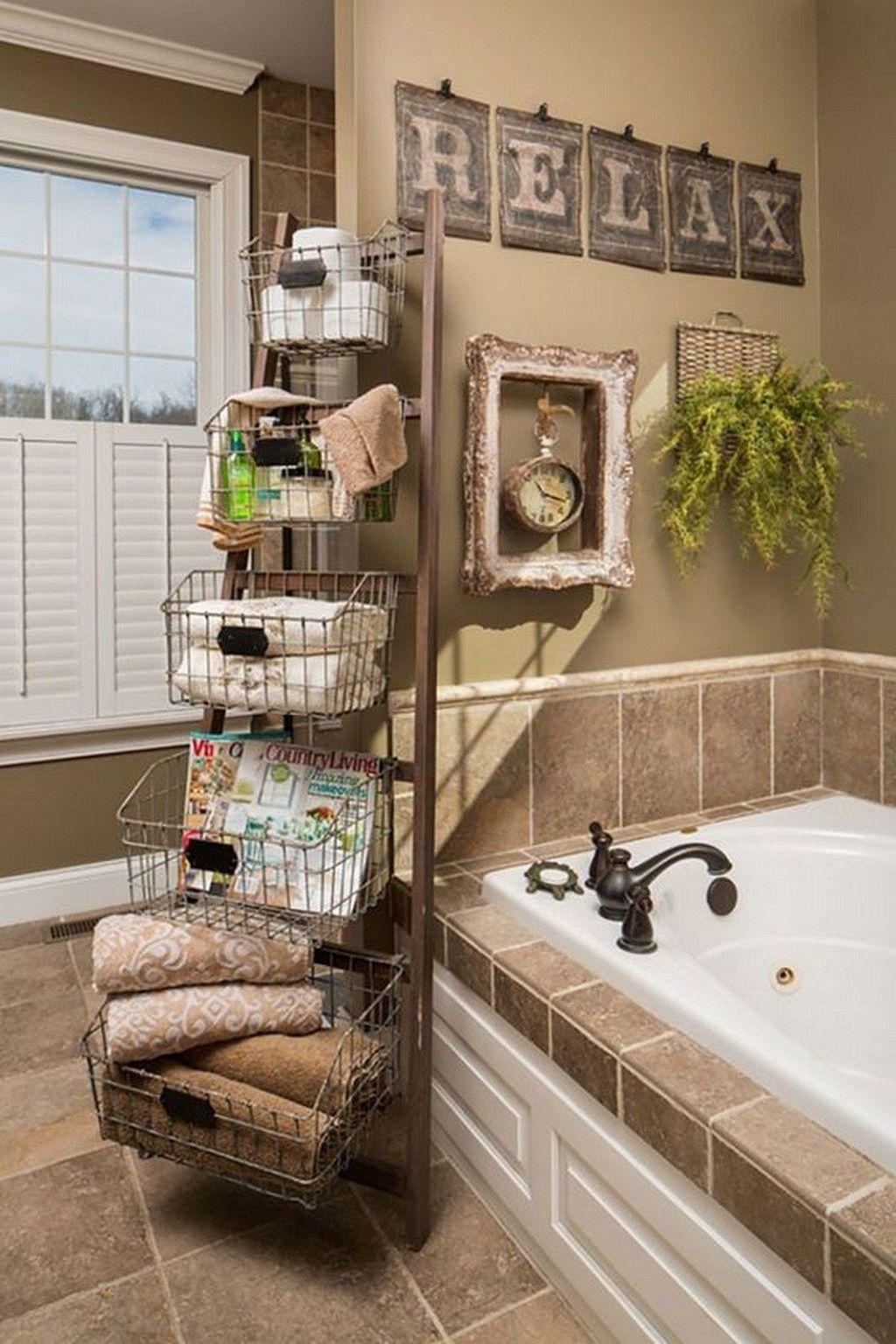 Amazing Farmhouse Bathroom Decor Ideas 17