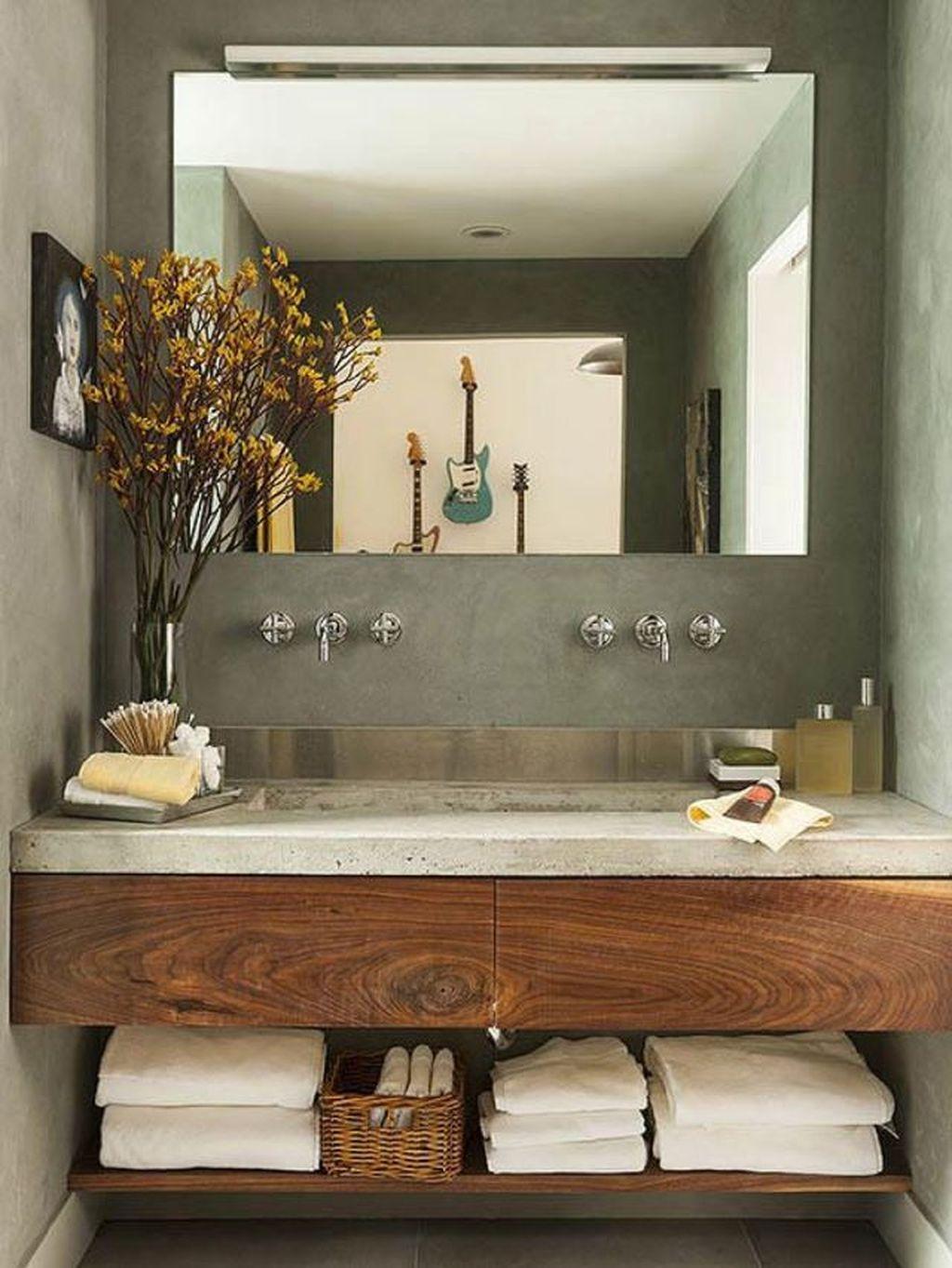 Amazing Farmhouse Bathroom Decor Ideas 26