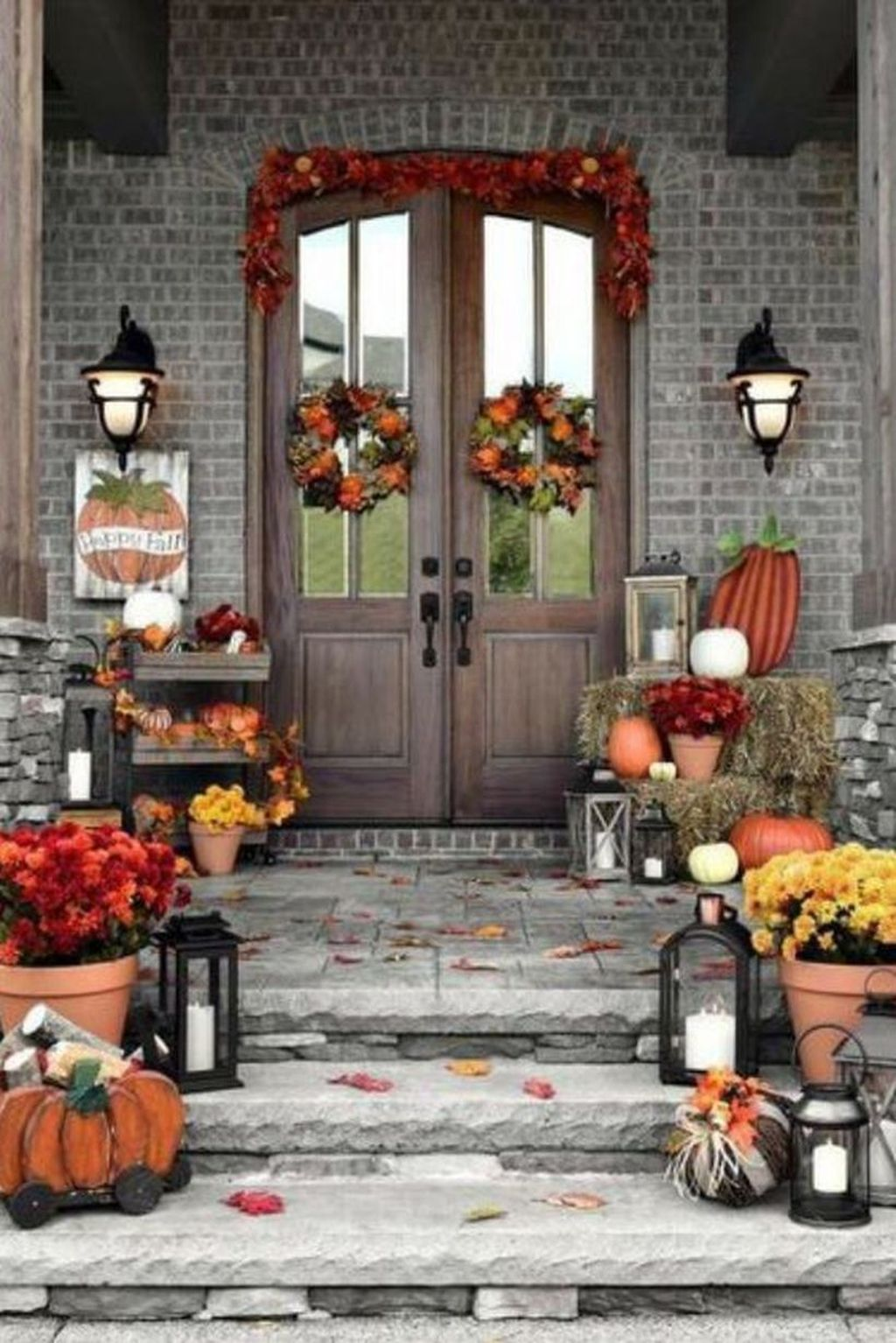 Amazing Front Porch Fall Decor Ideas That You Never Seen Before 26
