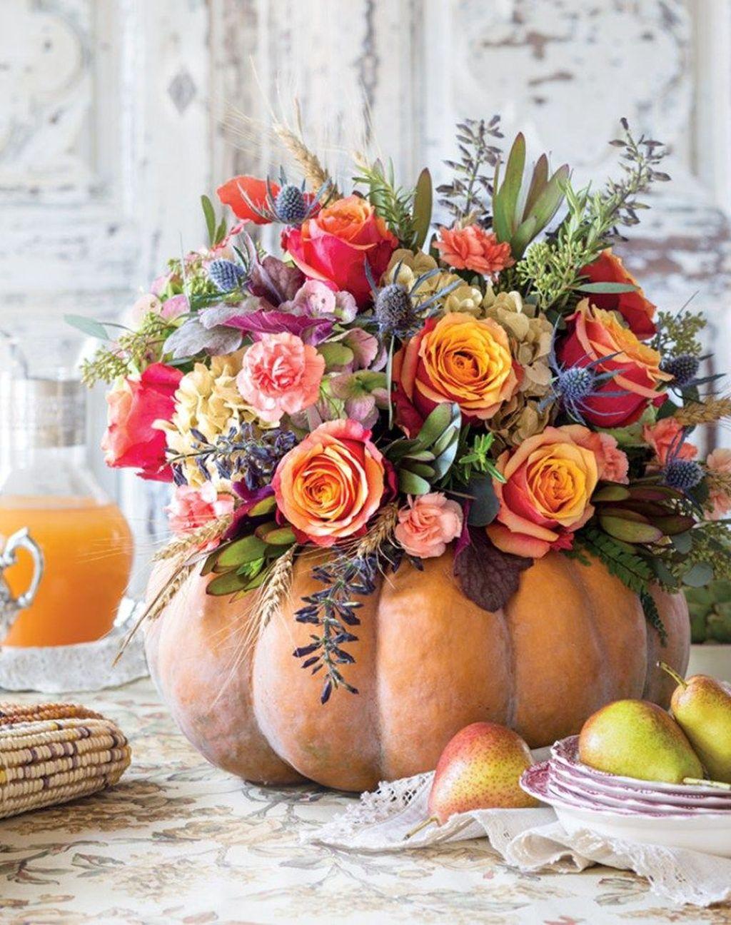 Beautiful Fall Flower Arrangement Design Ideas For Living Room Decor 15