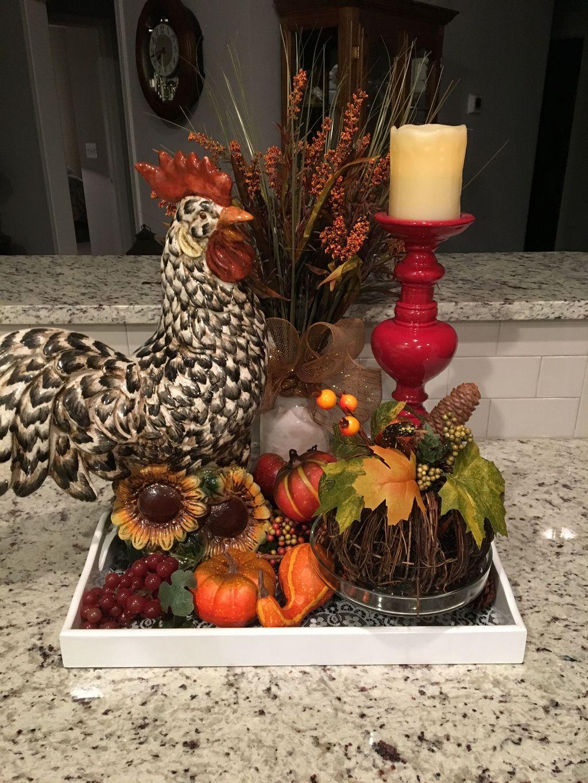 Beautiful Fall Theme Kitchen Island Decor Ideas 10