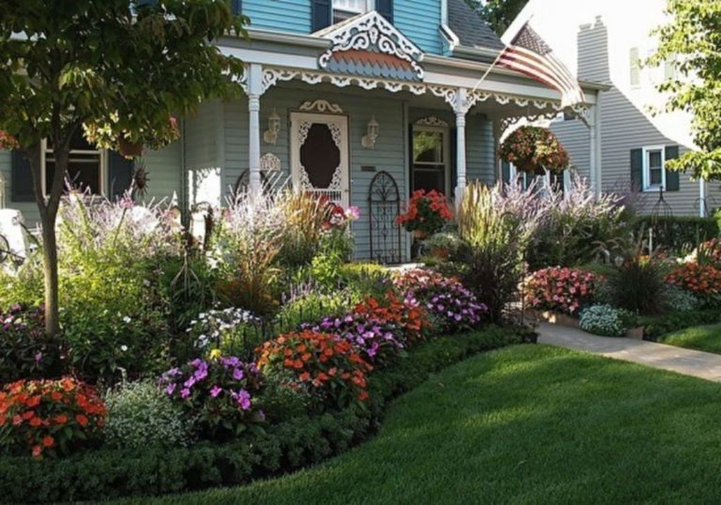 Beautiful Flower Beds Design Ideas In Front Of House 01
