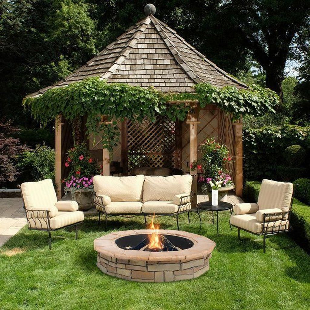 Fabulous Stone Fire Pit Design And Decor Ideas 03