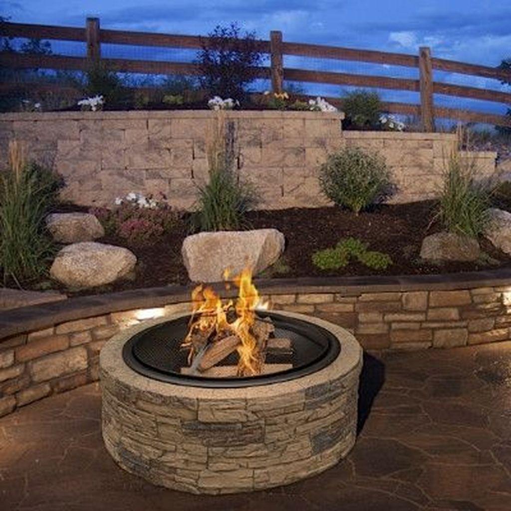Fabulous Stone Fire Pit Design And Decor Ideas 13