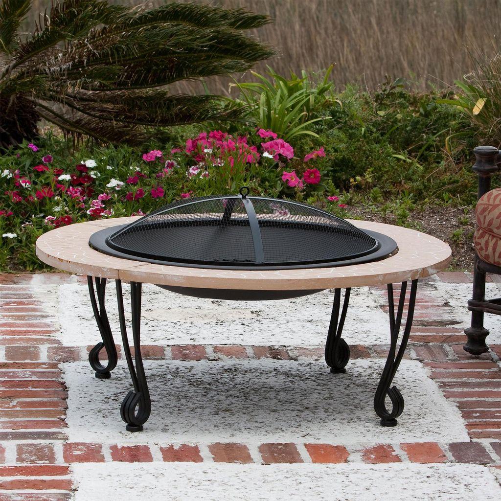 Fabulous Stone Fire Pit Design And Decor Ideas 17