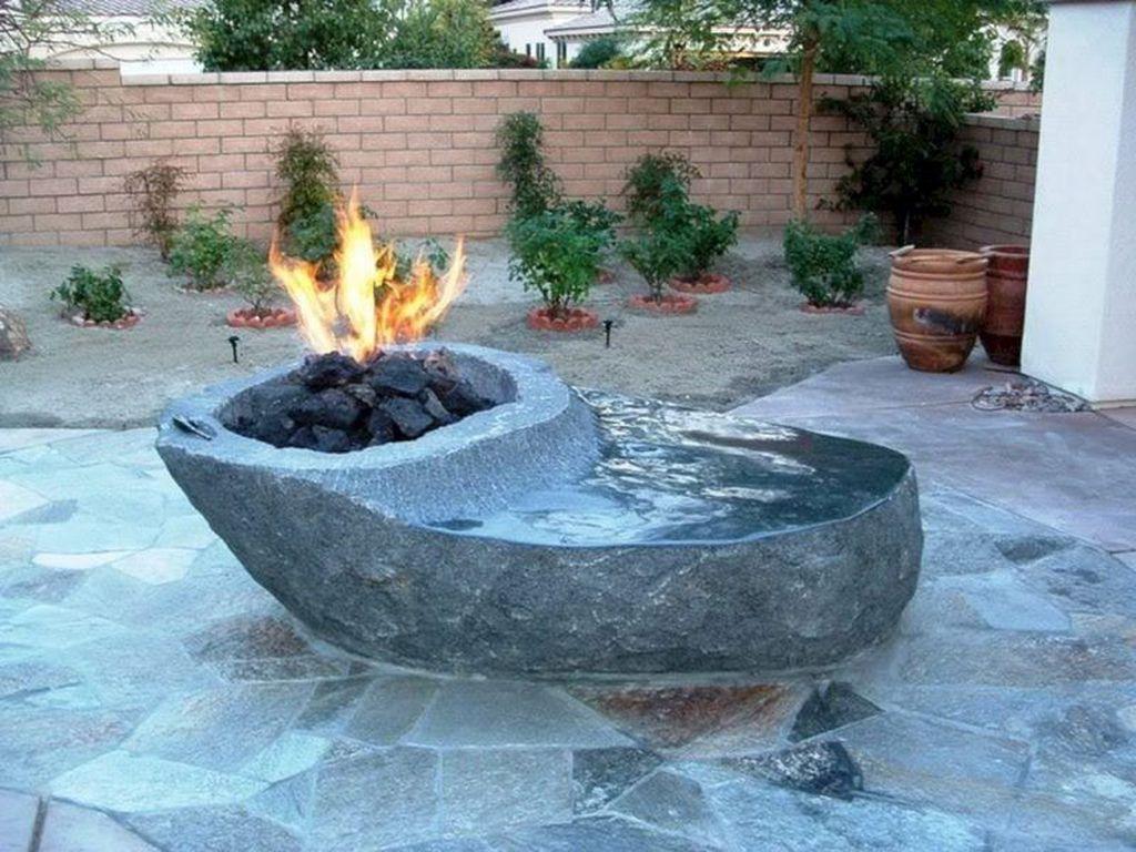 Fabulous Stone Fire Pit Design And Decor Ideas 24