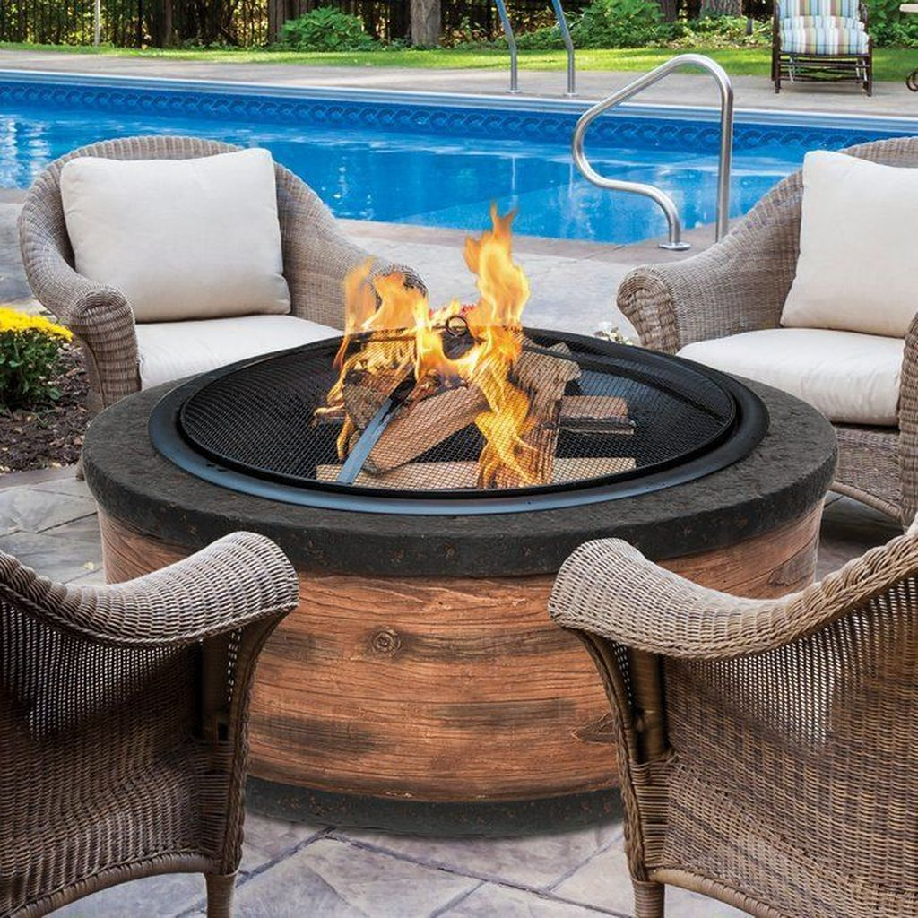 Fabulous Stone Fire Pit Design And Decor Ideas 27