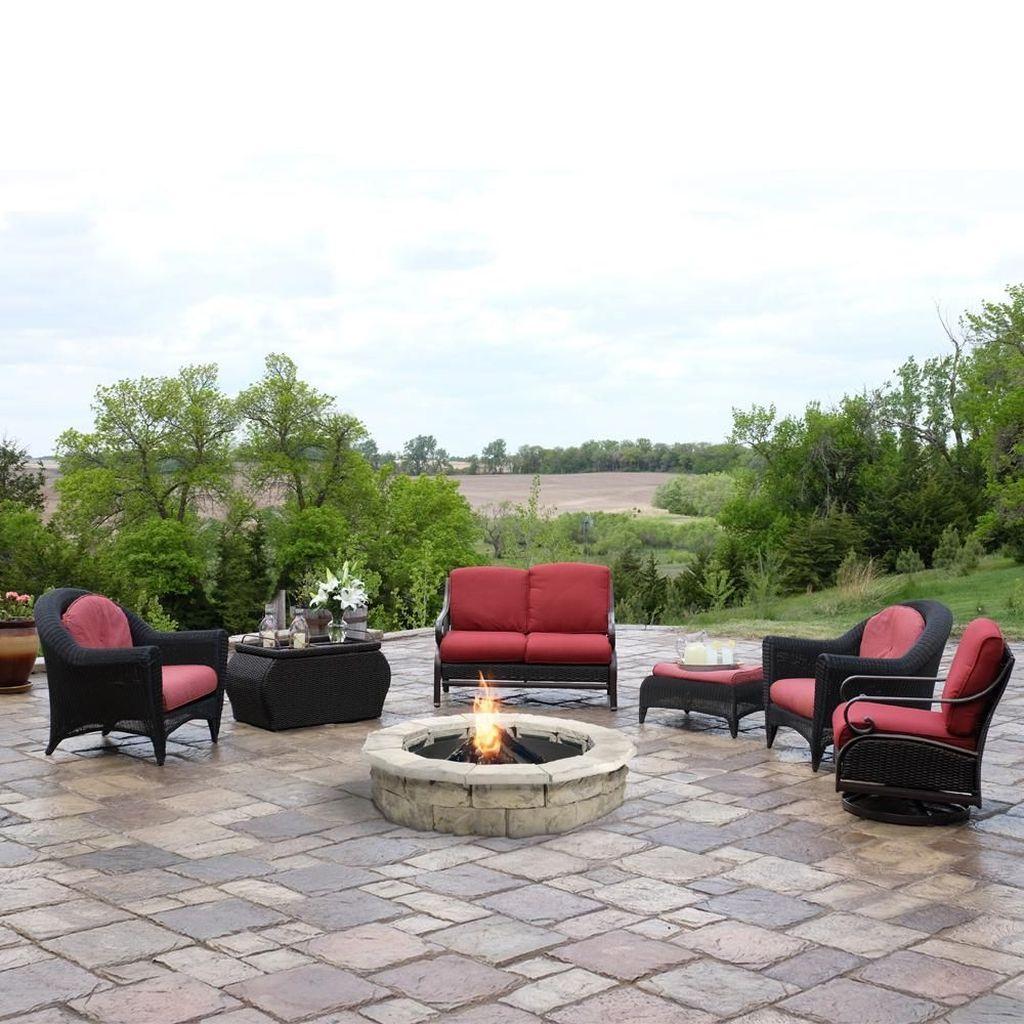 Fabulous Stone Fire Pit Design And Decor Ideas 28