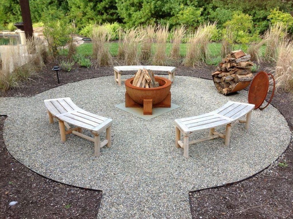 Fabulous Stone Fire Pit Design And Decor Ideas 31
