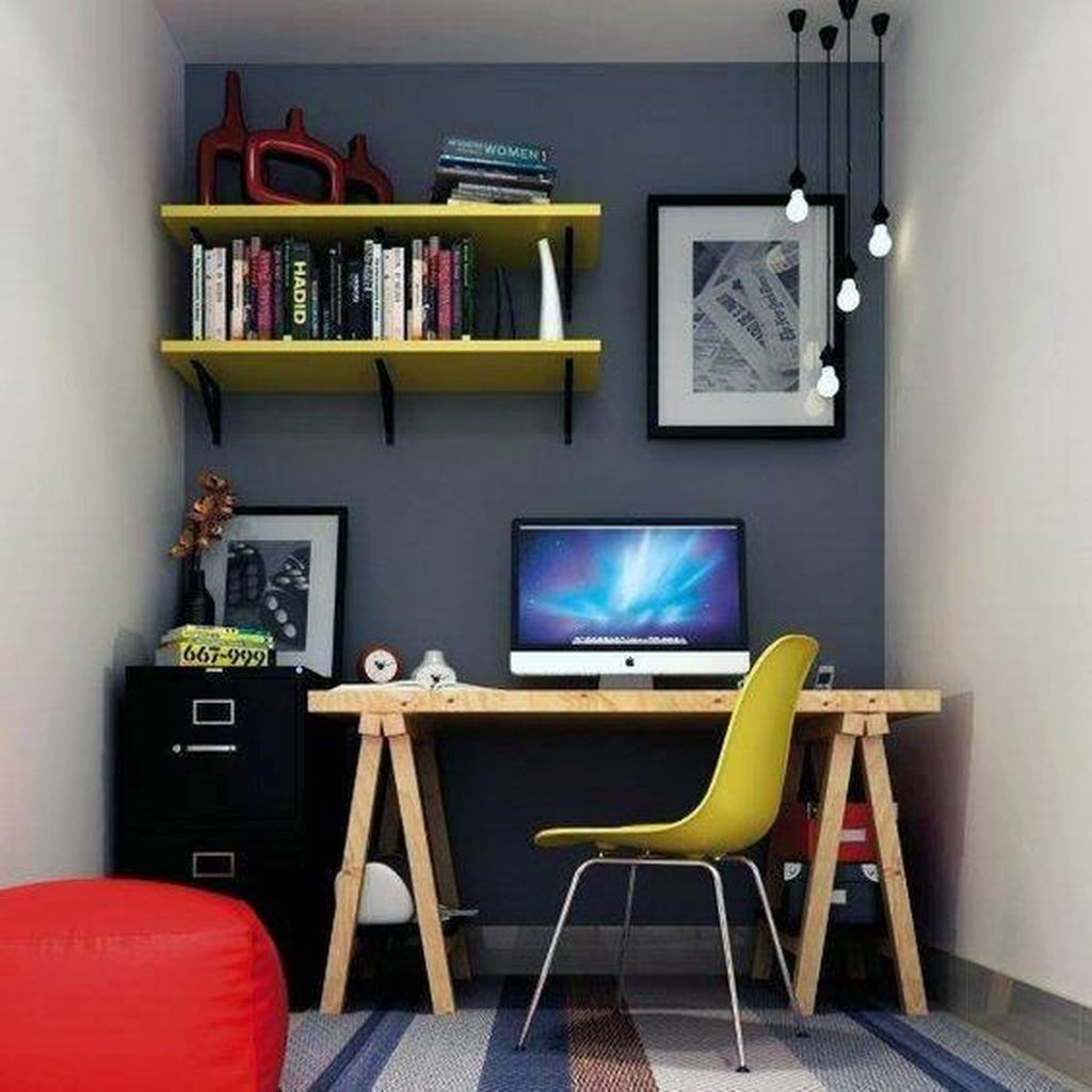 Gorgeous Home Office Design Ideas For Men 02