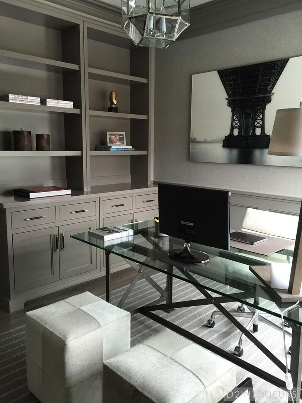 Gorgeous Home Office Design Ideas For Men 14